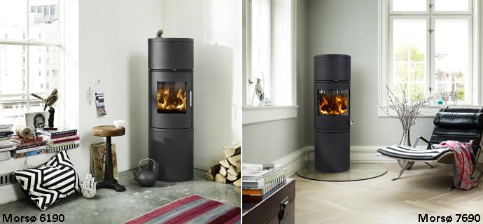 Moderne Stilsikker brændeovn holder på varmen - bygogbolig ZU66
