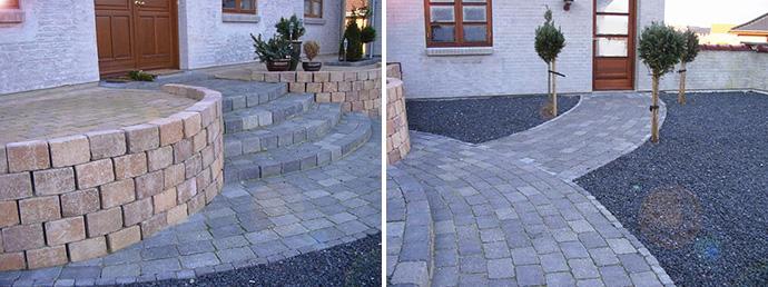 Terrasse af sten - bygogbolig
